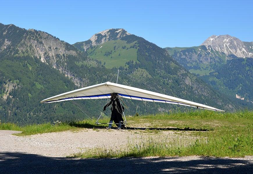 La pratique du deltaplane à proximité du gite