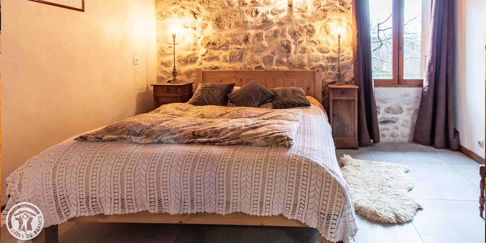 Le lit de la chambre Charline
