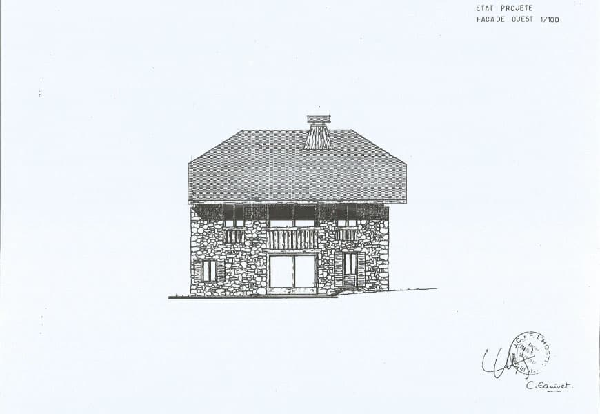 La façade ouest du gite chapo julo